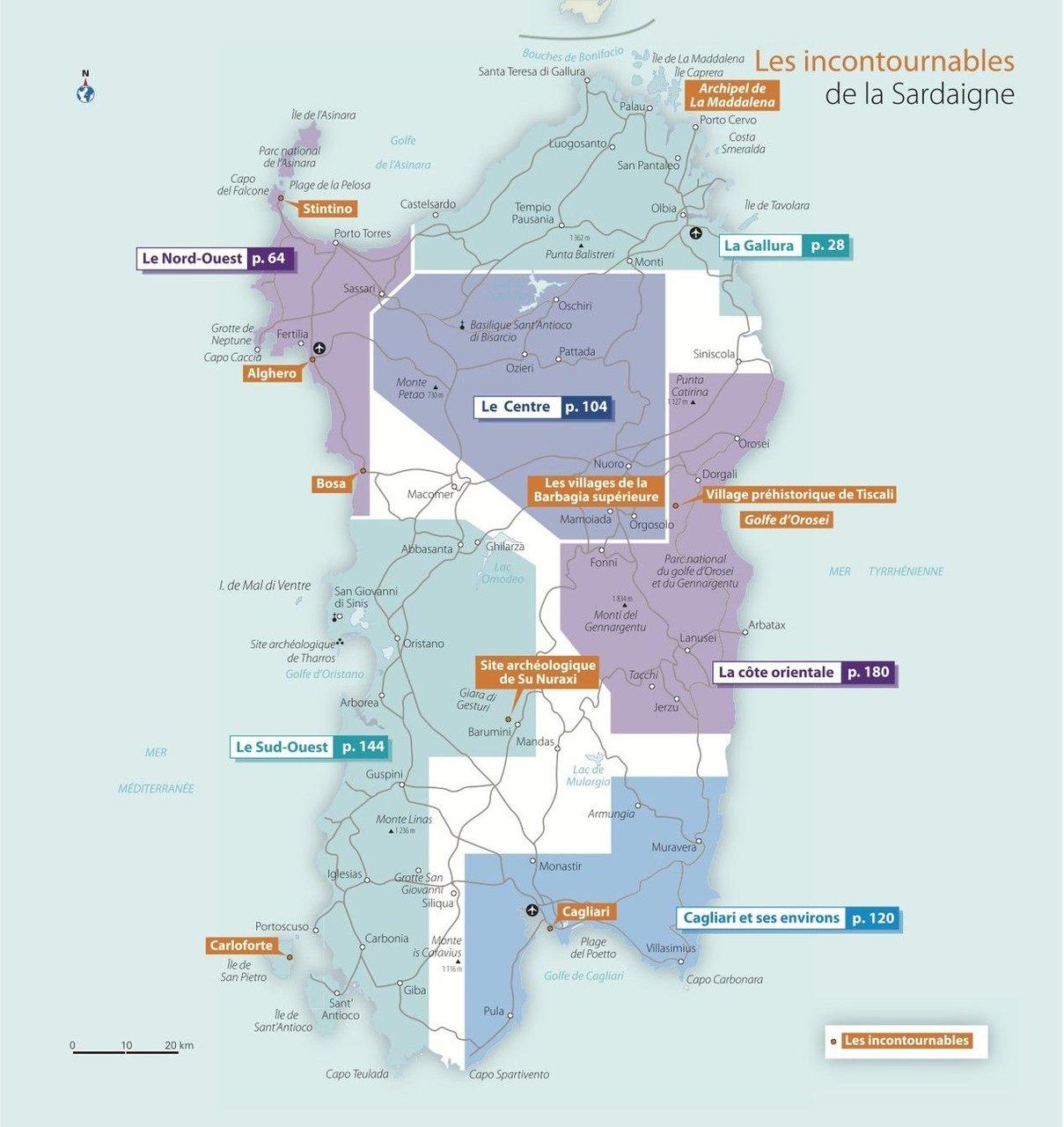 Assez Carte de la Sardaigne | Le blog Evasion NE31