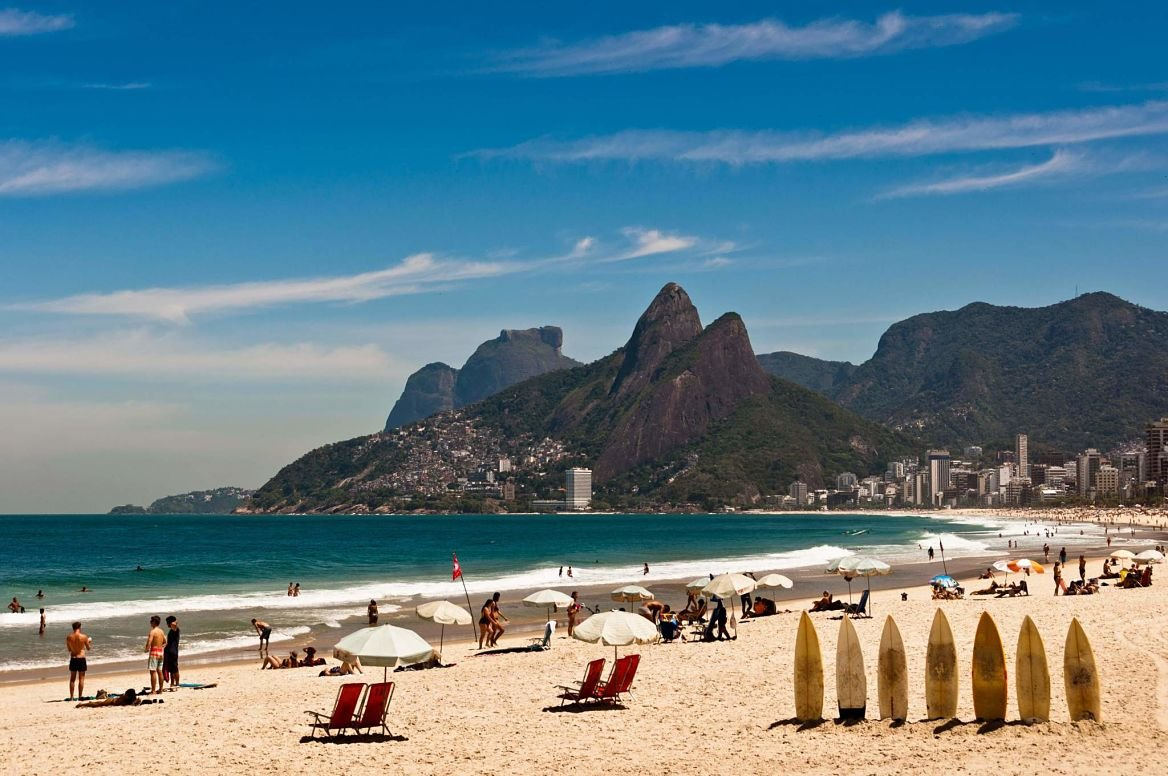La plage d'Ipanema au Brésil