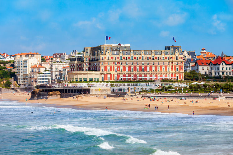 plage du casino Biarritz hotel du palais France