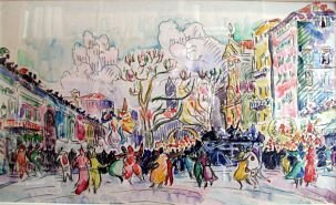 Carnival_at_Nice_by_Paul_Signac