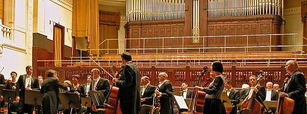 Un concert dans la salle Smetana