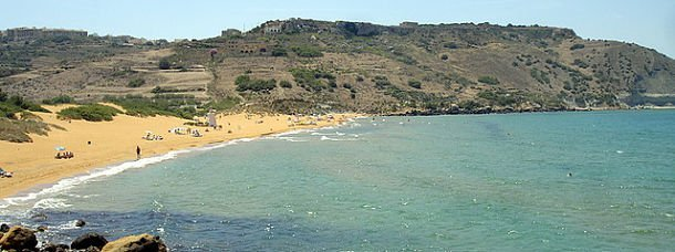 Ramla Bay, à Gozo, Malte