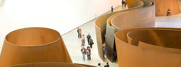 les œuvres de Richard Serra au Guggenheim de Bilbao