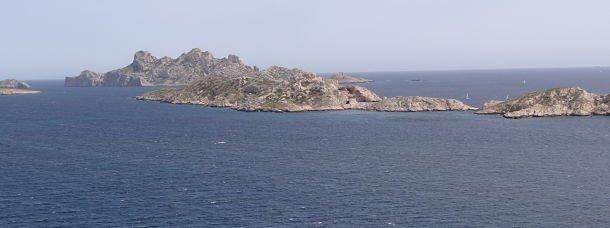 Vue sur l'archipel de Riou