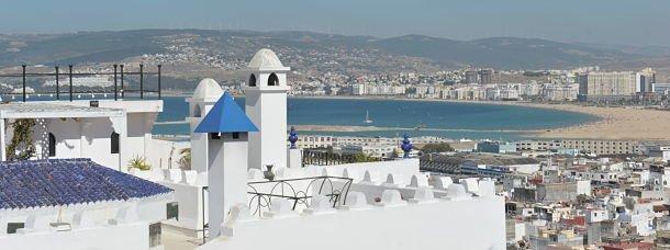 La vue depuis le Dar Nour à Tanger
