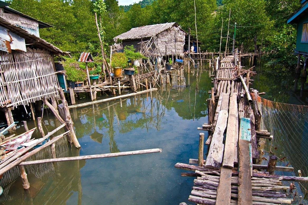 Village de pêcheurs, Koh Chang, Thaïlande