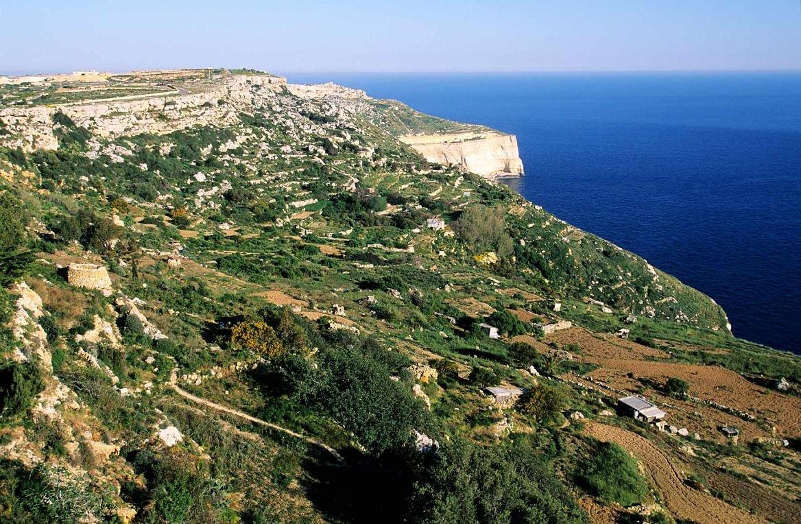 Les falaise de Dingli, Malte