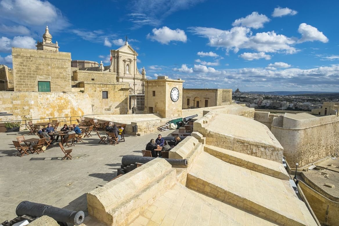 la citadelle de Victoria, île de Gozo, Malte