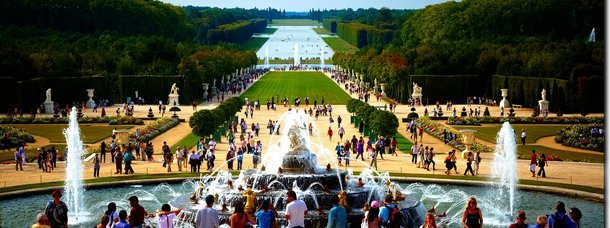 Avec notre auteur à Versailles
