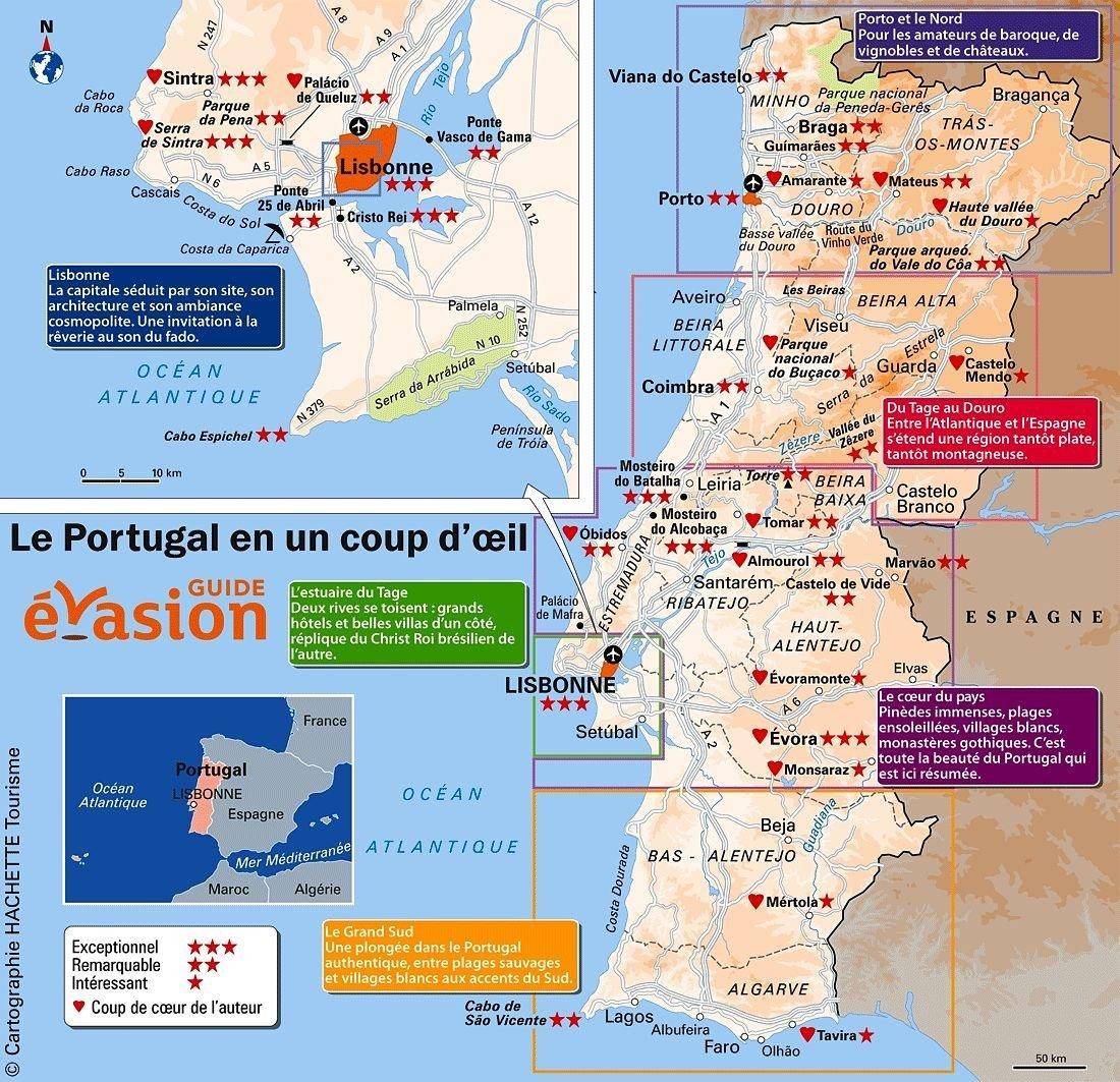 VOYAGES / VACANCES - Vos rêves ou projets ? - Page 2 Bonne-carte-du-portugal-que-voir