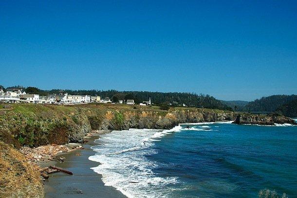 Les falaises de Mendocino, l'une des plus belles villes de Californie.