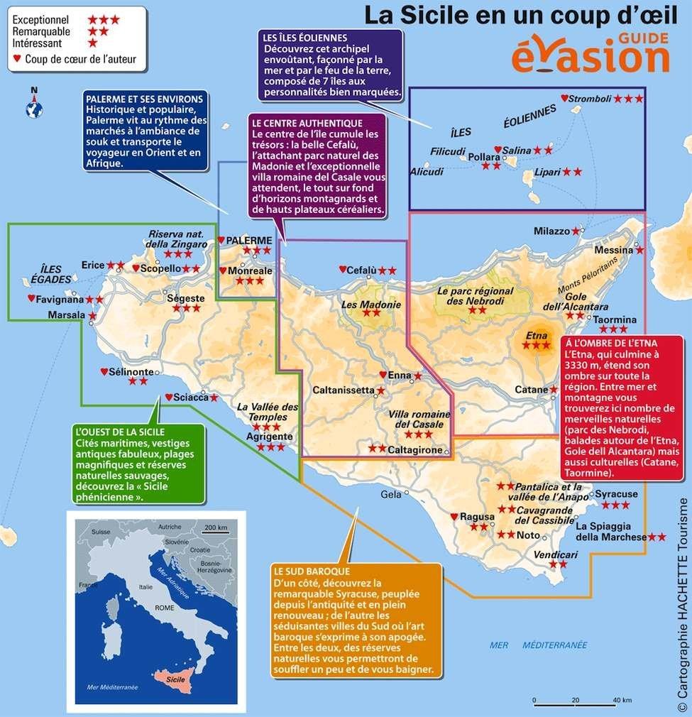 Guide-evasion-sicile-carte-de-l-ile-que-voir | Le blog Evasion