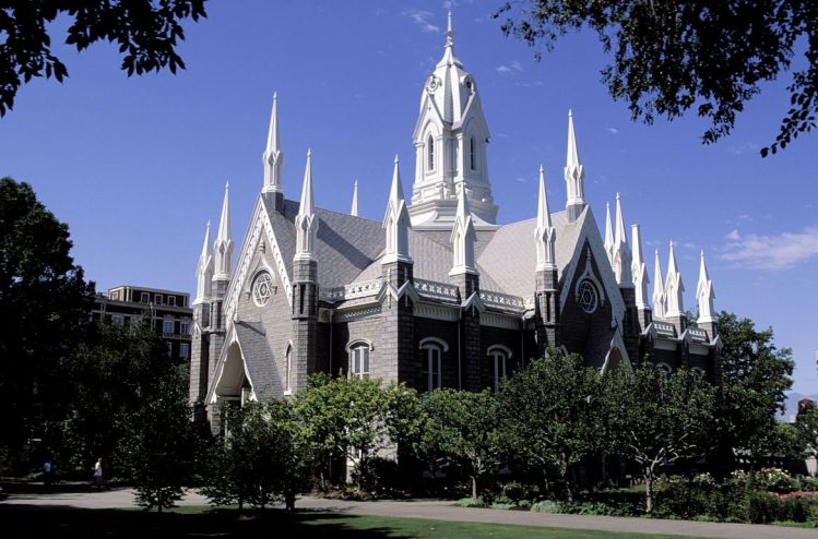 The Mormon Temple, Salt Lake City, Utah, États-Unis