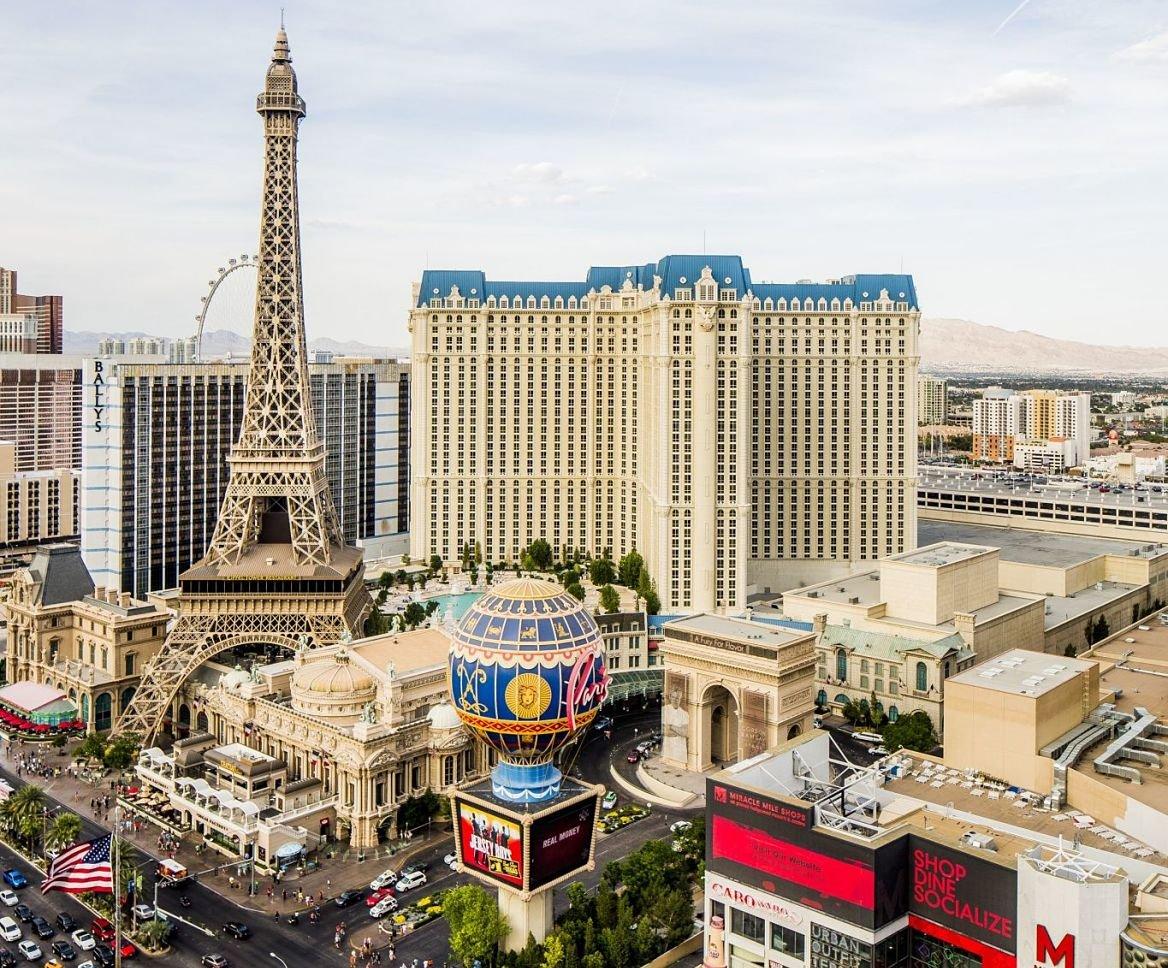 La tour Eiffel de l'hôtel Paris-Las Vegas, Las Vegas, États-Unis