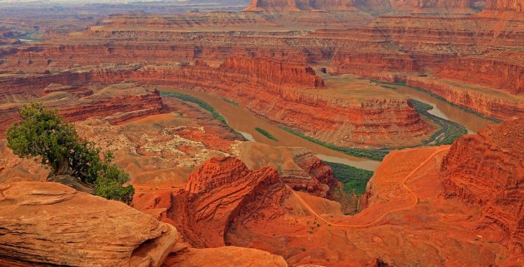 Colorado river depuis le Dead Horse Point, États-Unis salt lake city