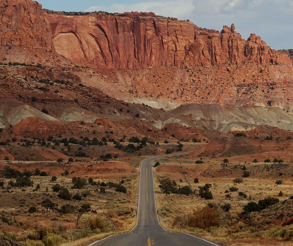 Highway 24, Capitol Reef NP, Utah, États-Unis