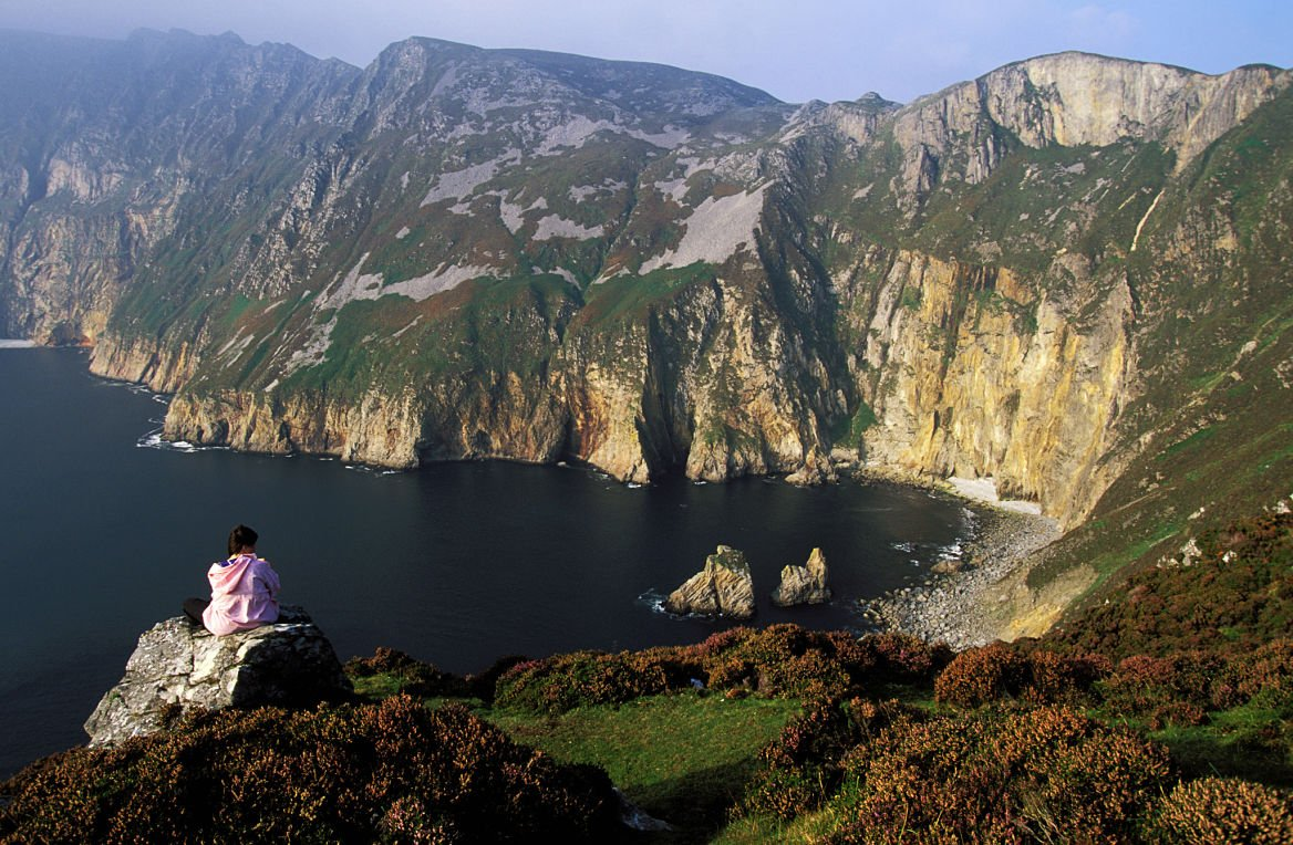 Slieve League, les falaises les plus hautes d'Europe, comté du Donegal, Irlande