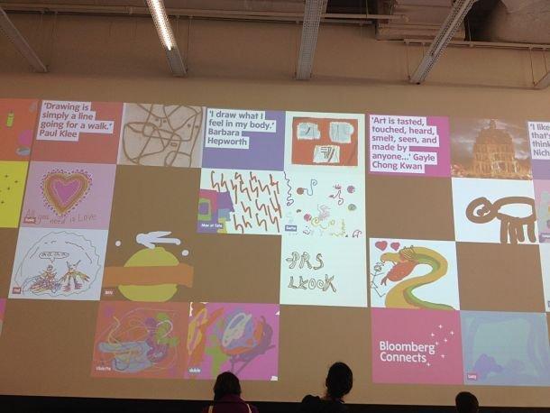 Tate Modern, projection des œuvres des enfants! famille londres