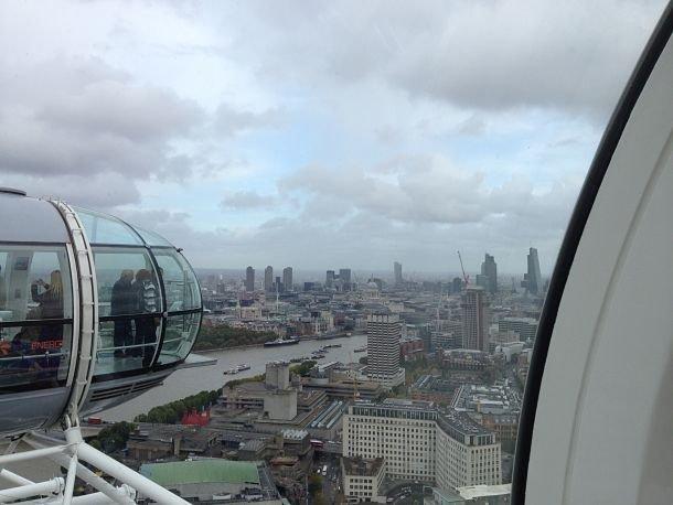 Vue sur Londres depuis le London Eye.
