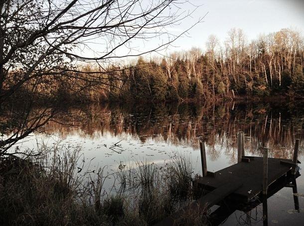 La rivière Magog. québec halloween