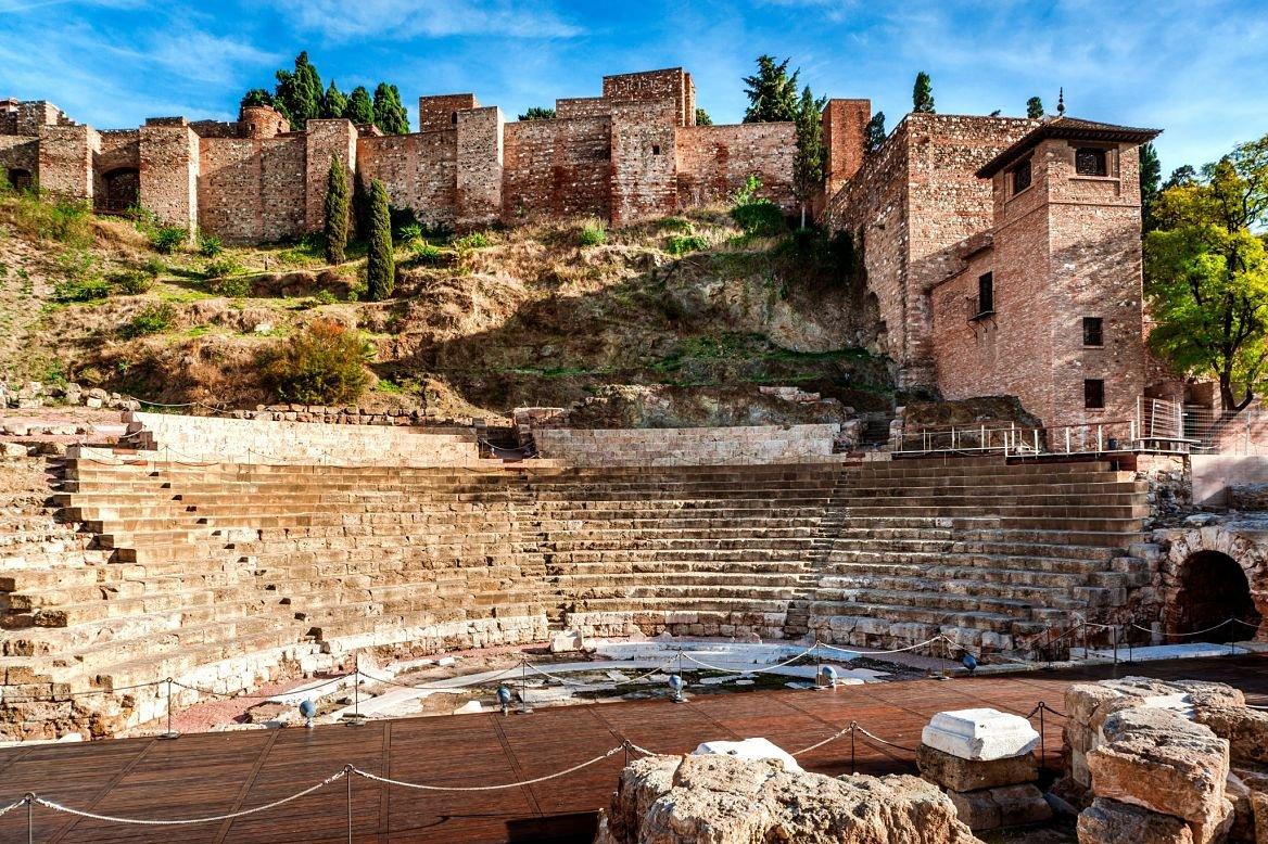 Le Teatro romano, Malaga, Andalousie