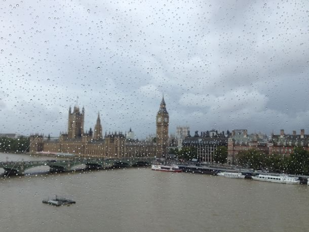 Vue sur Big Ben depuis le London Eye londres tamise