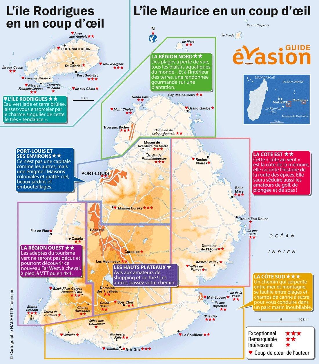 Guide touristique ile maurice carte - Ile maurice office du tourisme ...