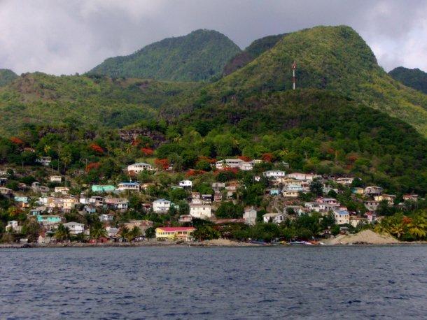sainte-lucie, île des Caraïbes