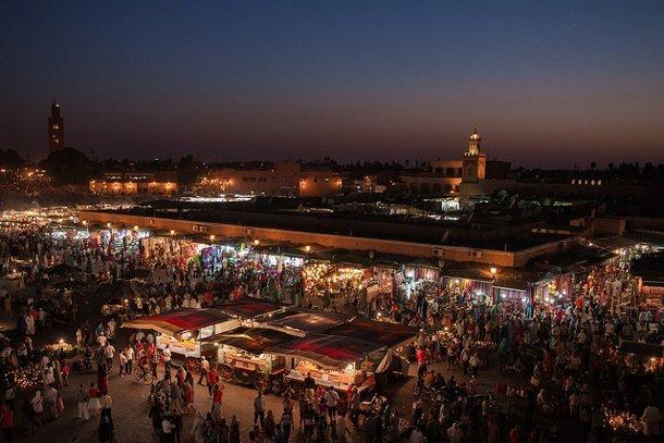 place-jemaa-marrakech maroc