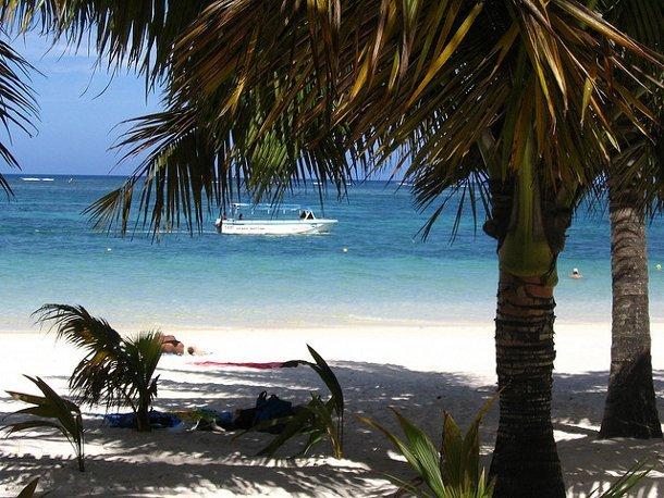 Une plage de l'île Maurice, océan Indien