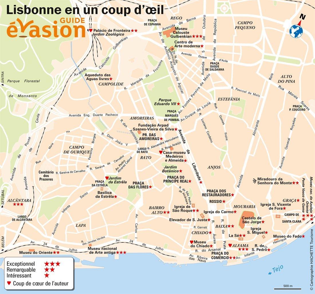 Lisbonne Plan De La Ville