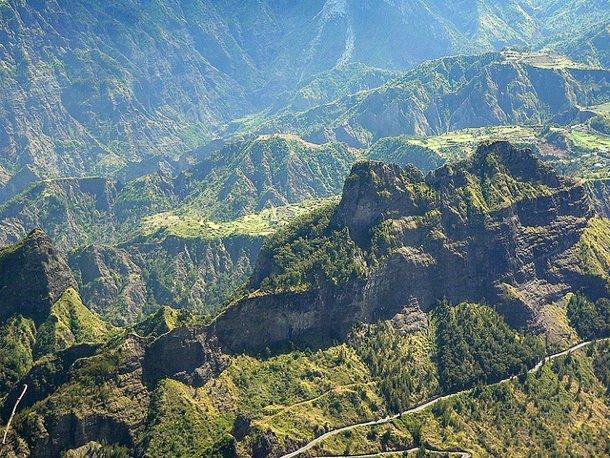 Randonnée sur l'île de La Réunion, océan Indien