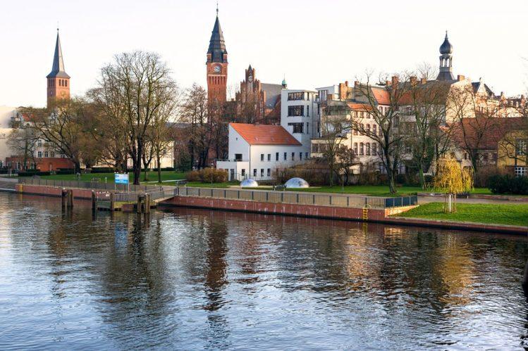 Vue de Kopenick depuis la Spree,, Allemagne