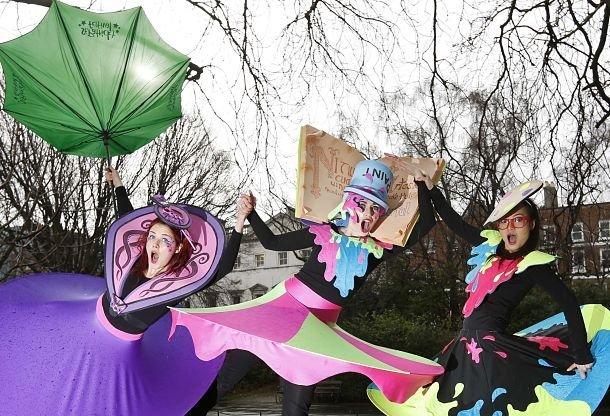 """dublin Lancement de la Saint Patrick 2014 sur le thème """"Le passé a des couleurs"""""""