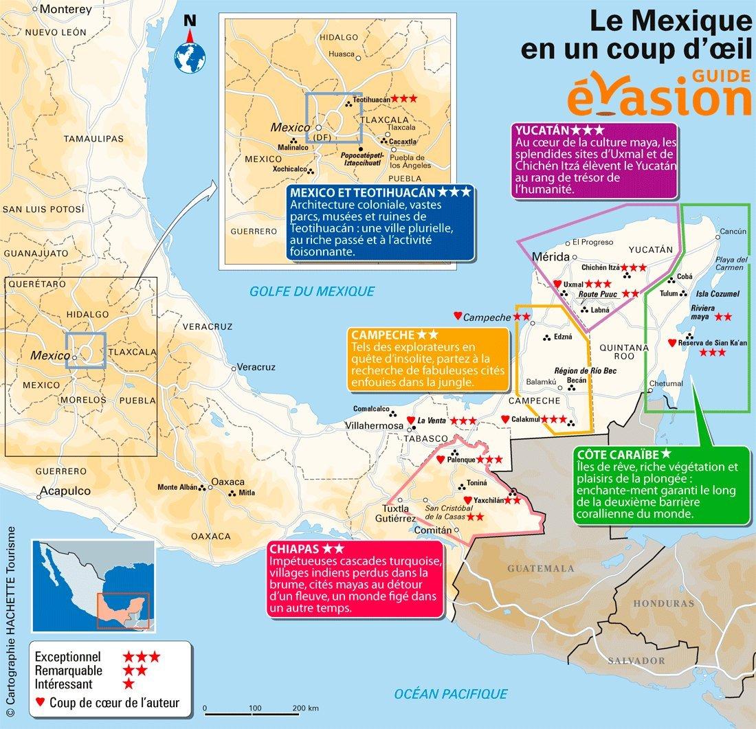 Carte Mexique Touristique.Voyager Au Mexique Tout Ce Qu Il Faut Savoir Le Blog Evasion