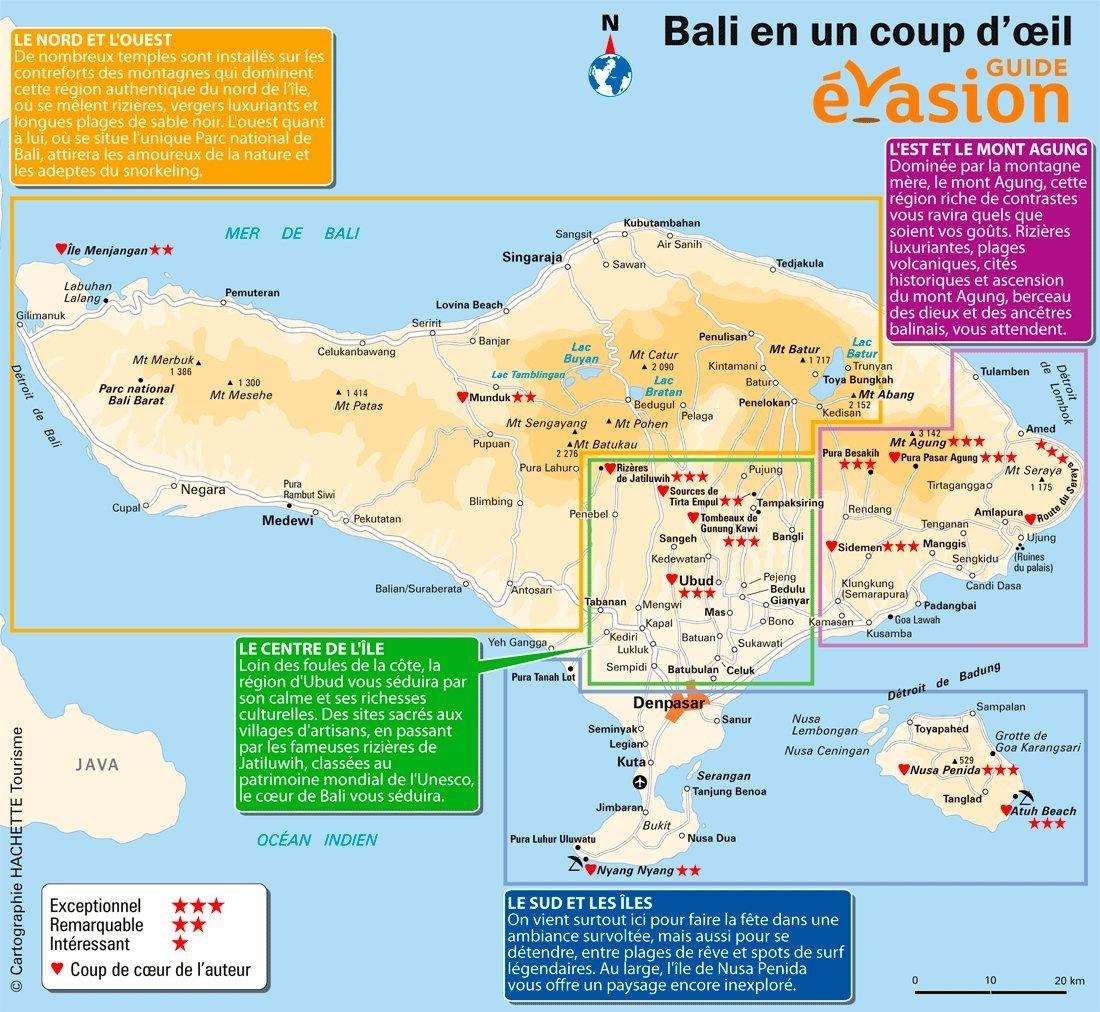 Carte Touristique De Bali Guide Evasion