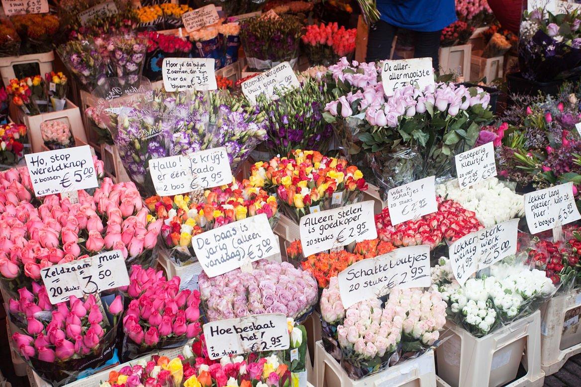 Marché de fleurs d'Amsterdam