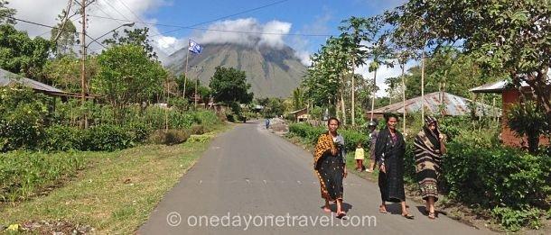 route de Bena Bajawa Flores