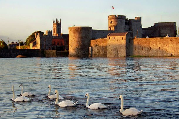 King John's Castle, Limerick City at sunset