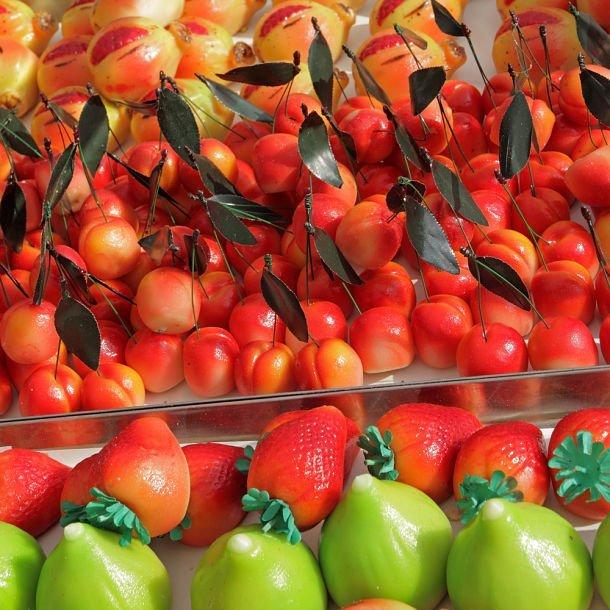 Frutti di Martorana, fruits en pâte d'amande de Sicile