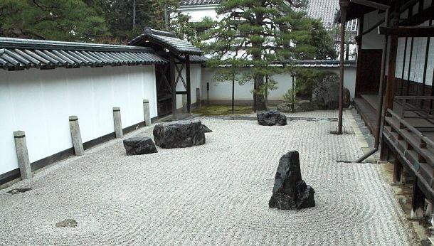Jardin zen au Ryoan-ji à Kyoto