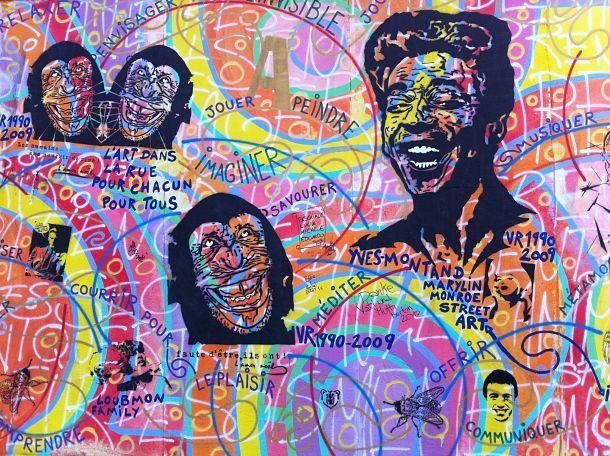 Peintures sur le mur de Berlin