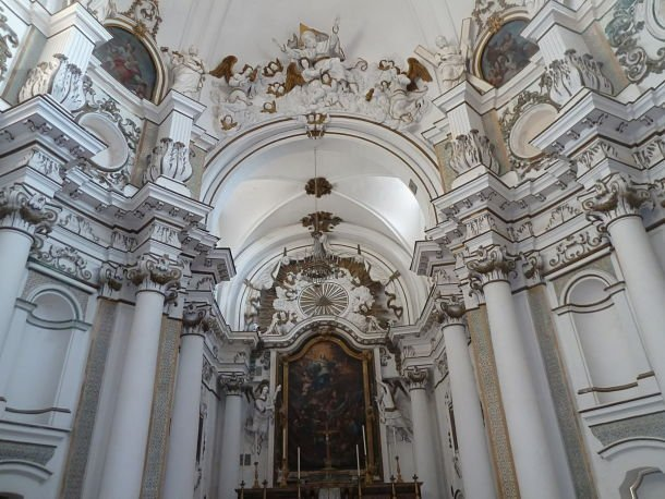 Le décor baroque de Santa Chiara ©Jean Tiffon