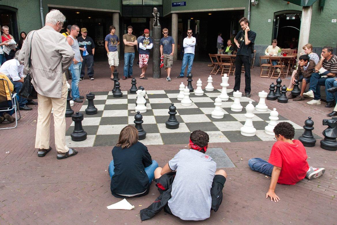 Jeu d'échecs à Amsterdam