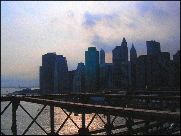 Vue depuis le Brooklyn Bridge - crédit: Hamon