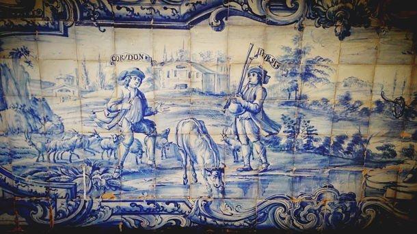 road trip Frise d'azulejos de l'université jésuite d'Évora