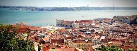 Lisbonne depuis le Castello, vue sur praça da Comercio ©