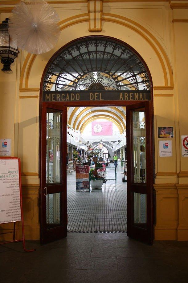 Entrée du marché de l'Arenal séville