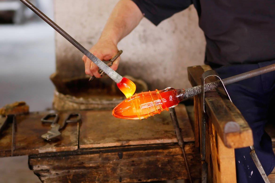 Souffleur de verre à Murano, Venise