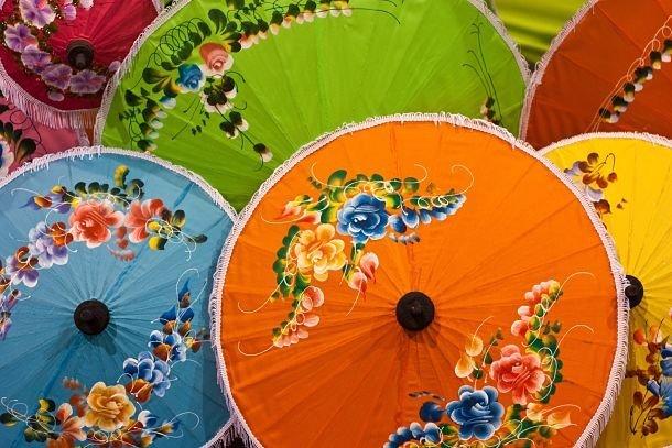 ombrelles thaïlande souvenirs
